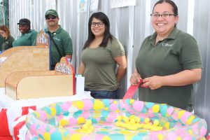 Crittenton Wraparound Staff making the Back-to-School Event enjoyable for families and their children.