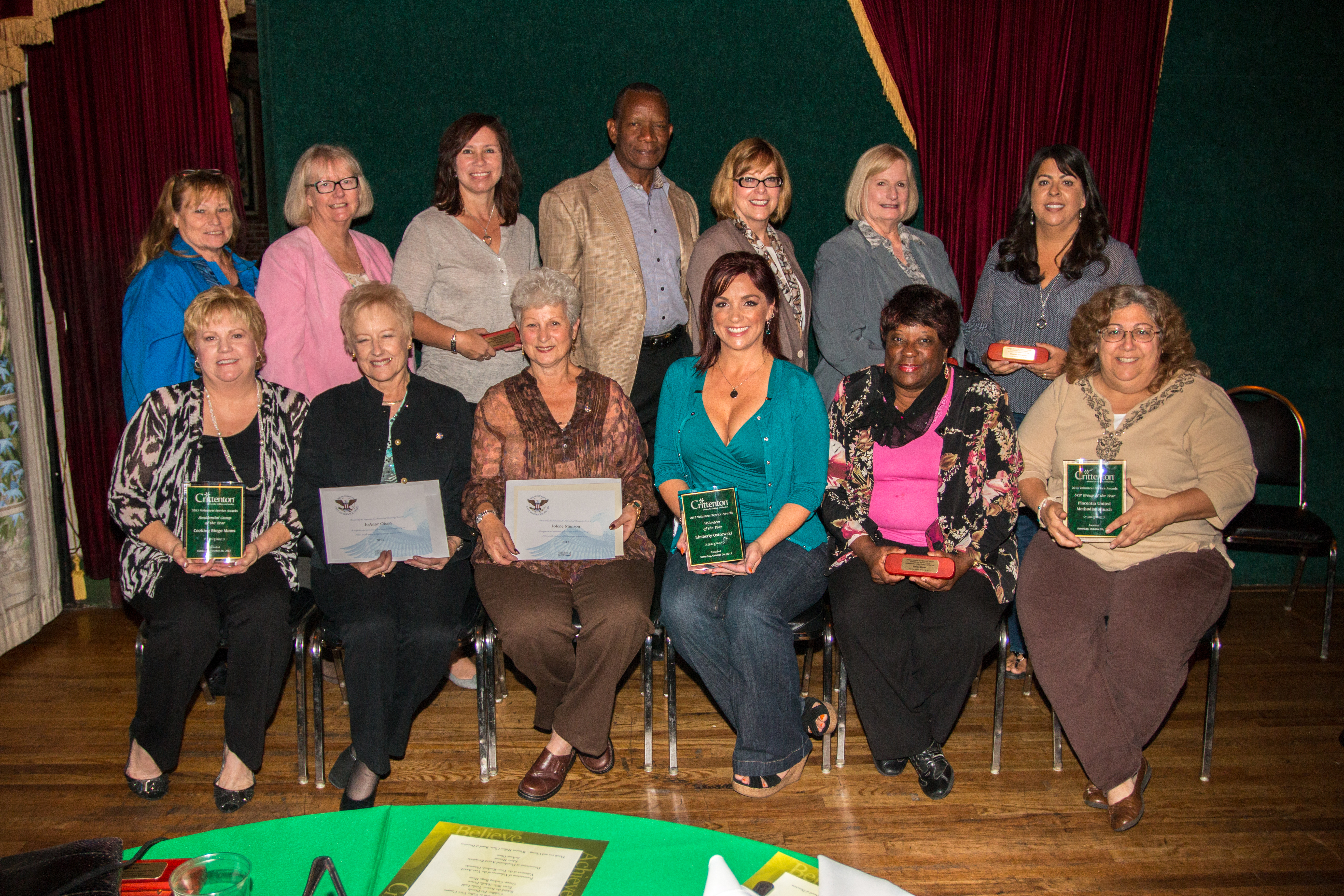 2013 Crittenton Volunteer Award Winners for Public Service.