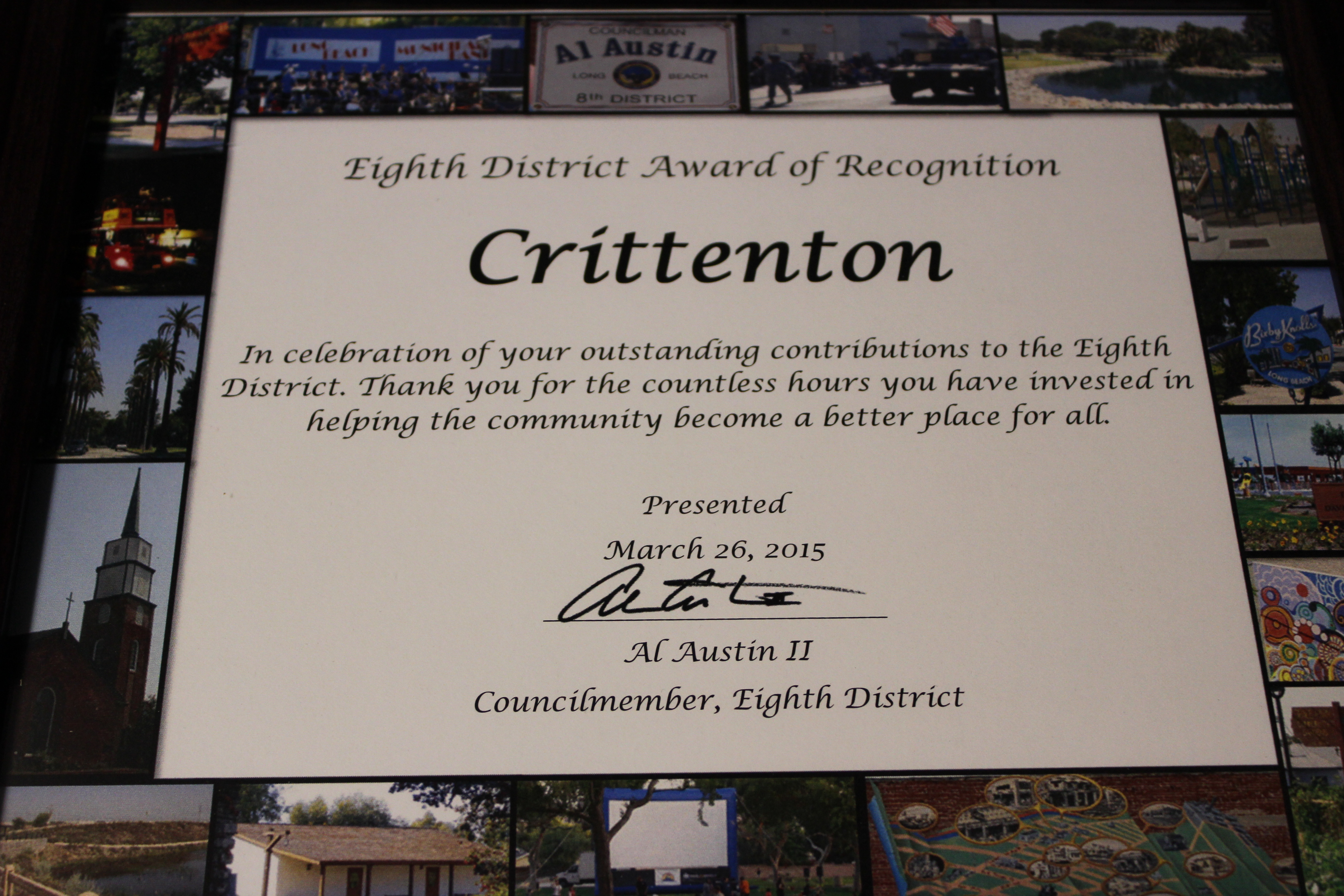 Crittenton's Celebrate the Eighth Award